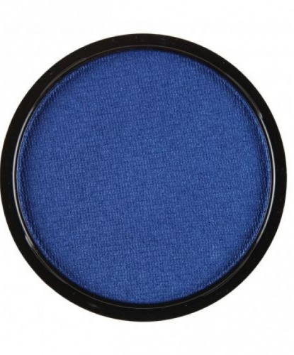 Аквагрим синий металлик, шайба 10 мл/15 гр (Италия)