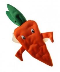 Шапка-повязка морковка