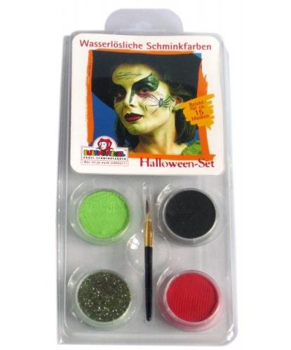 Набор аквагрима, 3 цвета: черный, красный, зеленый (Германия)