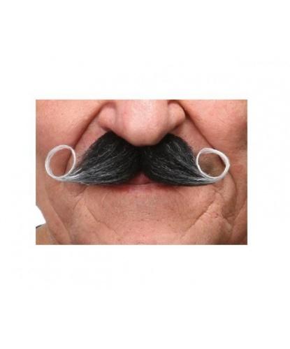 Закрученные накладные усы с сединой (Литва)