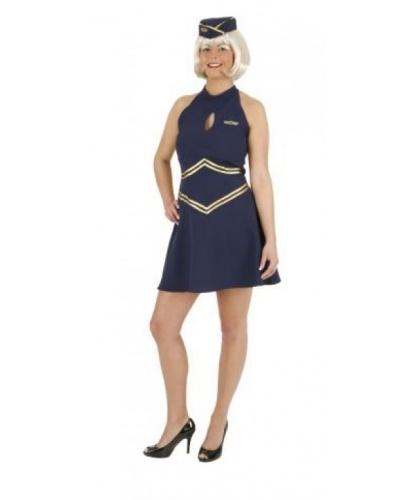 Костюм-платье стюардессы : пилотка, платье (Германия)