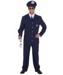 Синий мужской костюм полицейского