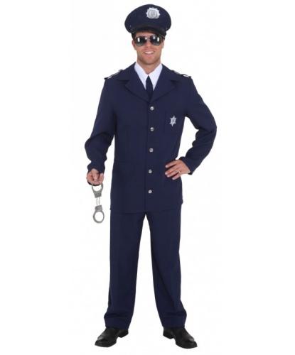 Синий мужской костюм полицейского: брюки, галстук, пиджак (Германия)