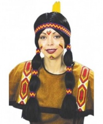 Парик девушки-индианки