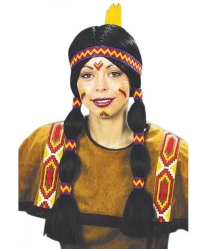 Парик девушки-индианки: черный (Германия)
