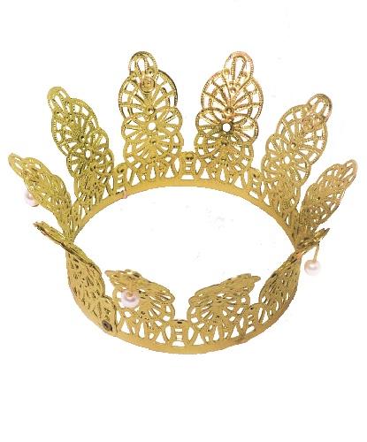 Корона золотая (6,5 см. диаметр), пластик (Германия)