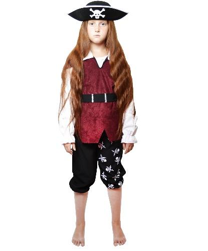 Костюм пирата для ребенка: бриджи, кофта, блузка, пояс (Германия)