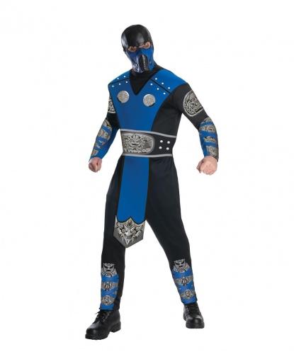 Купить костюм Sub-Zero Mortal Combat: комбинезон, маска (Германия)
