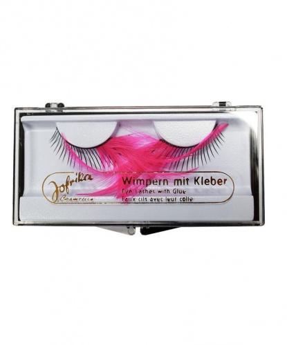 Накладные ресницы с розовыми перьями