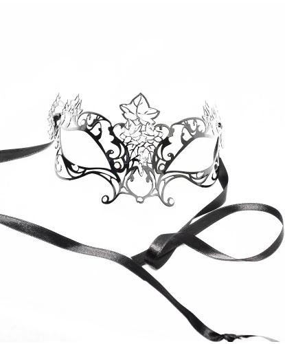 Венецианская маска Colombina Edera, металл, стразы (Италия)
