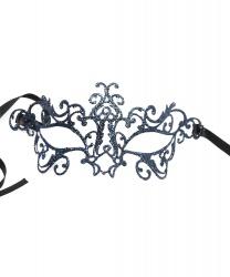 Венецианская маска синяя Bocciolo, стразы, металл (Италия)