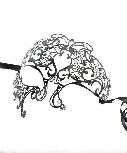 Металлическая маска Phantom, металл, стразы (Италия)