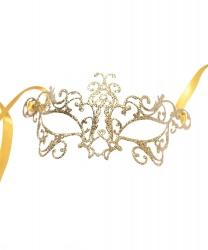 Венецианская маска золотая Bocciolo