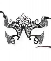 Металлическая маска со стразами Giglio