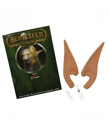Купить накладные эльфийские уши из латекса (16 см) (Германия)