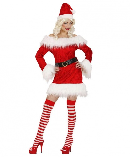 Эротический костюм помощницы Санта Клауса. : платье, пояс (Италия)