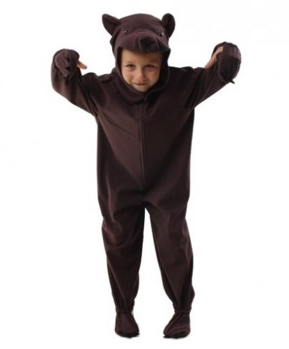 Детский костюм медведя: комбинезон, шапка (Польша)
