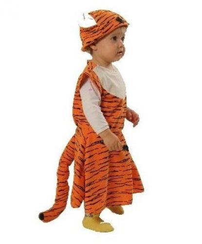 Костюм-платье тигренка: шапка, платье, манжеты (Польша)