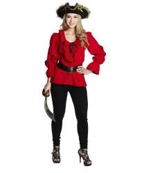 Красная пиратская рубашка