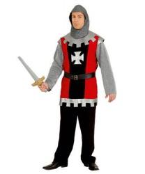 Взрослый костюм рыцаря: кофта, головной убор, пояс (Нидерланды)