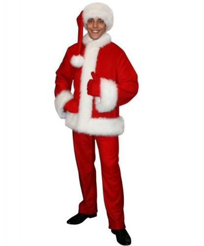 Санта Клаус: куртка, брюки, удлиненный колпак, рукавицы (Россия)
