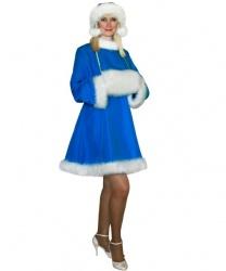 Синее платье снегурочки: шапка, муфта, платье (Россия)