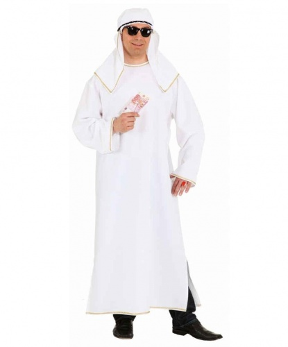 Белый костюм шейха (взрослый): головной убор, туника (Германия)