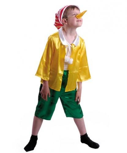 Детский костюм Буратино: куртка, шорты, гетры, колпак, нос (Россия)
