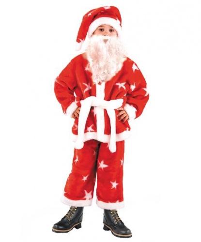 Костюм Санты для мальчика: полушубок, колпак, пояс, укороченные брюки (Россия)