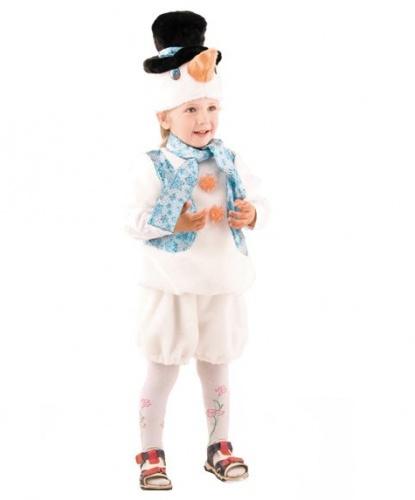 Костюм снеговичка: шорты, безрукавка, шарфик, шапочка (Россия)