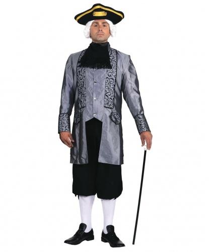 Серый костюм барона: жабо, камзол (Германия)