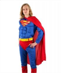 Взрослый костюм Супермена: комбинезон, плащ, пояс (Германия)