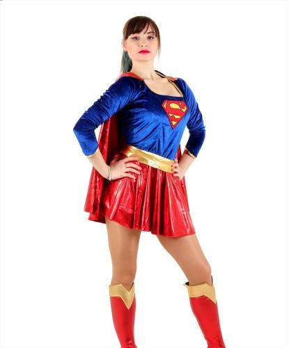 Костюм Supergirl: накидка, накладка на сапоги, платье, пояс (Германия)