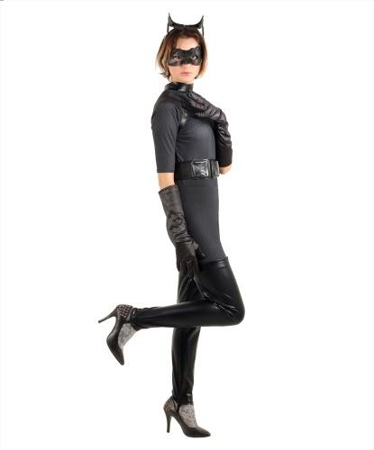 Костюм женщины кошки: комбинезон, маска, пояс, ушки на ободе (Германия)