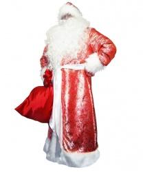 Карнавальный костюм Дед Мороз жаккардовый (красный)