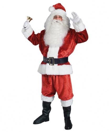 Костюм европейского Санта-Клауса: куртка, брюки, колпак, пояс, накладки на ботинки (Германия)