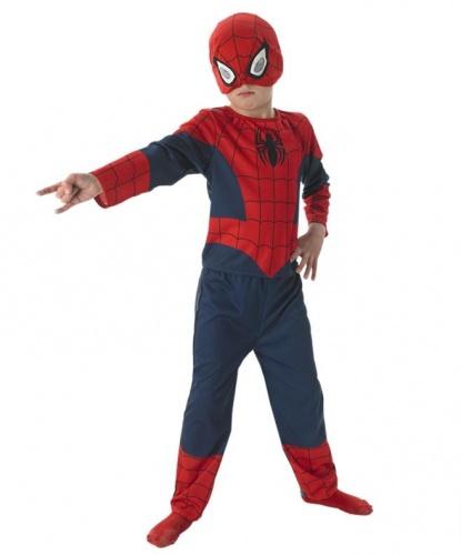 Детский костюм Человека-паука с полумаской: штаны, кофта, маска (Германия)