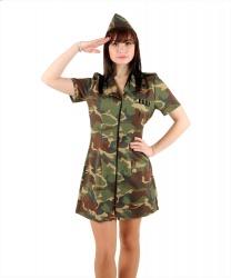 Костюм-платье военной