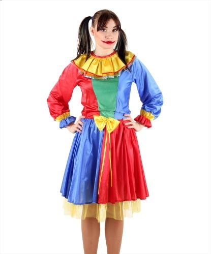 Костюм клоуна (женский): платье (Польша)
