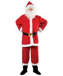 Костюм для Санта-Клауса: халат, пояс, брюки с пришитыми накладками на обувь, колпак (Польша)