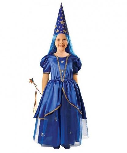 Детский костюм феи: платье, колпак, волшебная палочка (Польша)