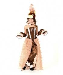 Костюм-платье лошадки: корсет, брюки, нарукавники, головной убор, жабо (Россия)