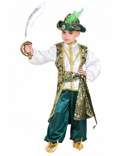 Костюм Алладина: рубашка, брюки, пояс, накладки на обувь, головной убор (Италия)