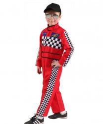 Детский красный костюм гонщика