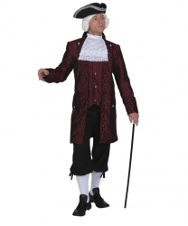 Бордовый костюм барона
