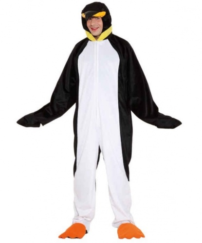 Костюм пингвина (взрослый): комбинезон, капюшон (Германия)