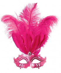 Розовая маскарадная маска