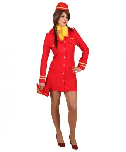 Платье стюардессы (красное): платье, головной убор, платок (Германия)