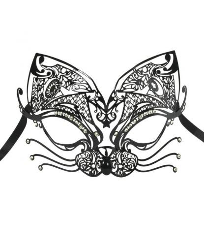 Металлическая маска Gatto, металл, стразы (Италия)