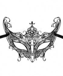 Черная венецианская маска Libellula